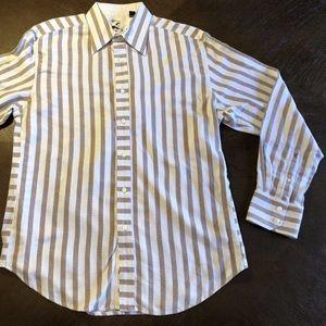 Robert Graham Button Front Striped Dress Shirt